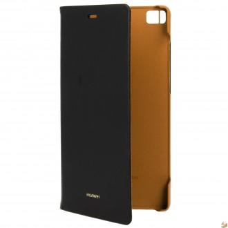 Оригинален калъф за Huawei P8 черен/Huawei Flip Case for P8 black