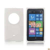Силиконов калъф за Nokia 1020 бял