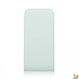 Калъф тип тефтер за Nokia Lumia 610 бял