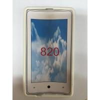 Силиконов калъф за Nokia Lumia 820 бял