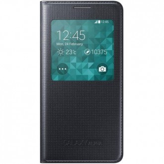 Samsung Cover S-View EF-CG850BB for Galaxy Alpha black