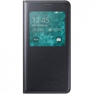 Samsung Cover S-View EF-CG850BB for Galaxy Alpha black