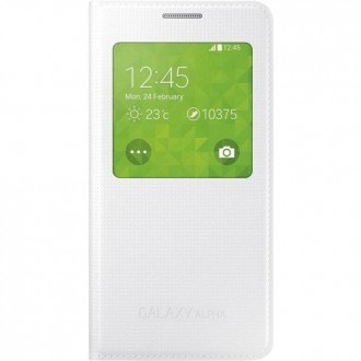 Samsung Cover S-View EF-CG850BW for Galaxy Alpha white