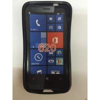 Силиконов калъф за Nokia Lumia 620 черен