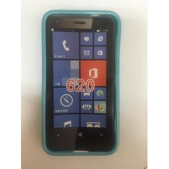 Силиконов калъф за Nokia Lumia 620 син
