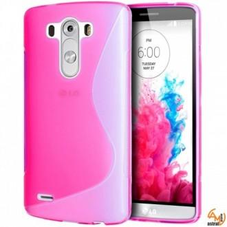 Силиконов калъф за LG G3 розов