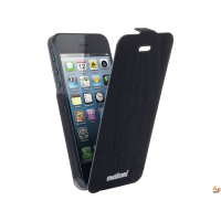 Flap slim за iPhone 5/5S бял/черен Cellular line