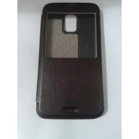 Страничен тефтер за Samsung Galaxy S5/S5 Neo кафяв