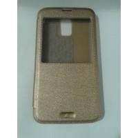 Страничен тефтер за Samsung Galaxy S5/S5 Neo златен