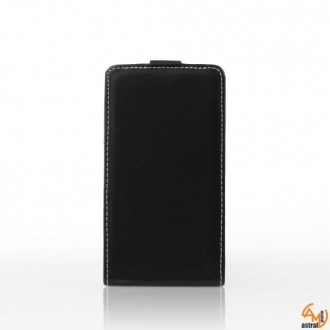 Калъф тип тефтер за Samsung S5300 Galaxy Pocket черен