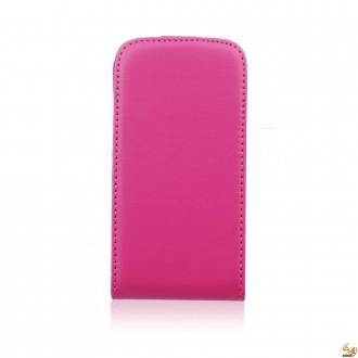 Калъф тип тефтер за LG L Fino розов