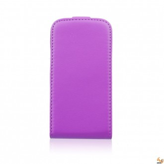 Калъф тип тефтер за Samsung i9190 Galaxy S4 mini лилав