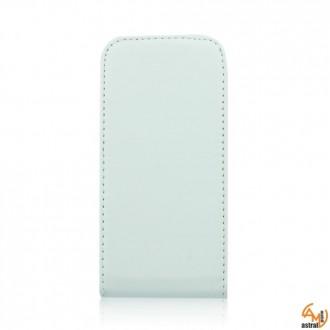 Калъф тип тефтер за Samsung S5660 Galaxy Gio бял