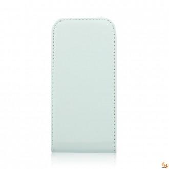 Калъф тип тефтер за Alcatel One Touch Idol 6030 бял