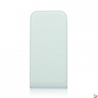 Калъф тип тефтер за Samsung i9190 Galaxy S4 mini бял