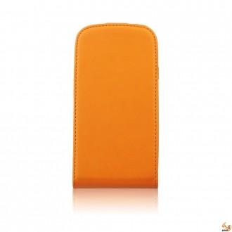 Калъф тип тефтер за Samsung Galaxy S5/S5 Neo оранжев