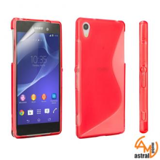 Силиконов калъф за Sony Xperia Z2 червен