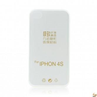 Силиконов калъф за iPhone 4/4S 0.3 мм прозрачен