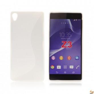 Силиконов калъф за Sony Xperia Z3 бял
