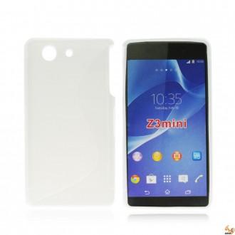 Силиконов калъф за Sony Xperia Z3 compact бял