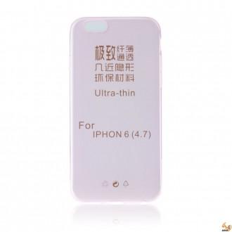 Силиконов калъф за iPhone 6/6S 0.3мм розов