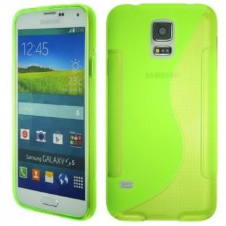 Силиконов калъф за Samsung Galaxy S5  G900 зелен