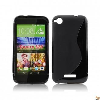 Силиконов калъф за HTC Desire 320 черен