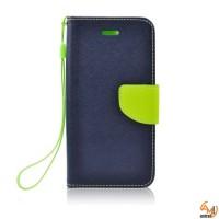 Страничен калъф тефтер за Huawei P8 Lite син