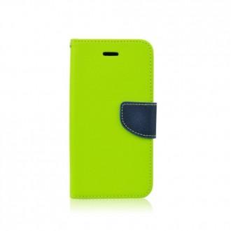 Страничен калъф тефтер за Samsung Galaxy S5 mini зелен