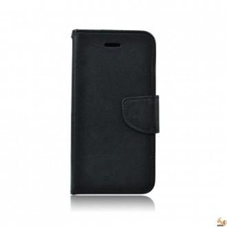 Страничен калъф тефтер за Samsung Galaxy A3 (2016) черен