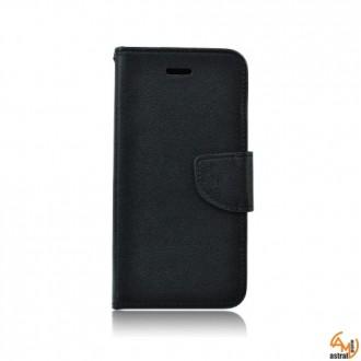 Страничен калъф тефтер за Samsung Galaxy S5/S5 Neo черен
