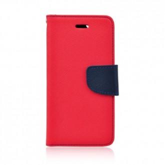 Страничен калъф тефтер за Samsung Galaxy A7 червен