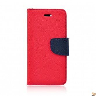 Страничен калъф тефтер за LG K10 червен