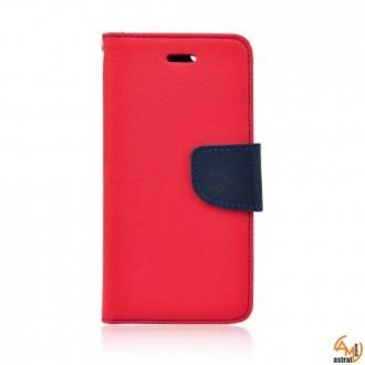 Страничен калъф тефтер за Lenovo Vibe P1 червен
