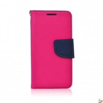 Страничен калъф тефтер за LG K10 розов