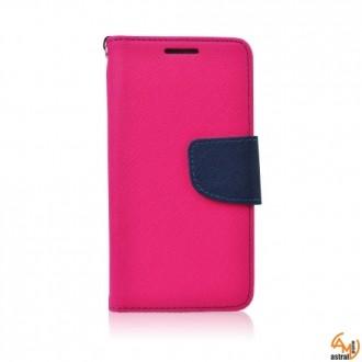 Страничен калъф тефтер за Microsoft Lumia 435 розов