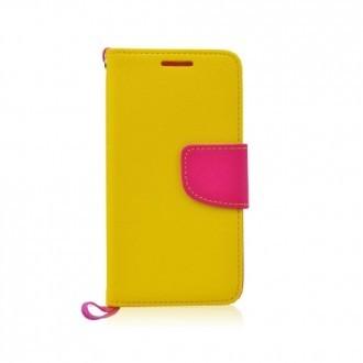 Страничен калъф тефтер за Samsung Galaxy S6 жълт