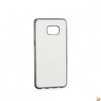 Силиконов калъф за Samsung G928 Galaxy S6 Edge+ с лайсна Silver