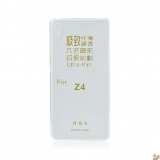 Силиконов калъф за Sony Xperia Z3+/Z4 0.3 mm прозрачен