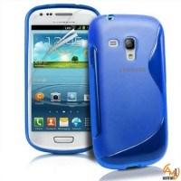Силиконов калъф за Samsung Galaxy S3 mini син