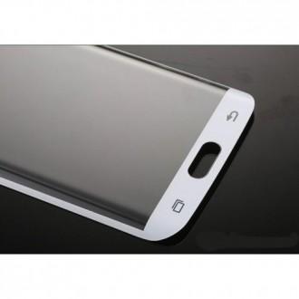 Извит протектор за Samsung Galaxy S6 edge+ бял