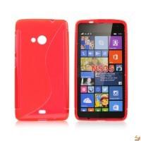 Силиконов калъф за Microsoft Lumia 535 червен
