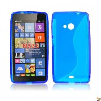 Силиконов калъф за Microsoft Lumia 535 син