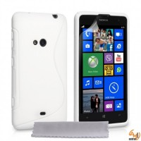 Силиконов калъф  за Nokia Lumia 625 бял