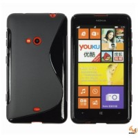 Силиконов калъф  за Nokia Lumia 625 черен