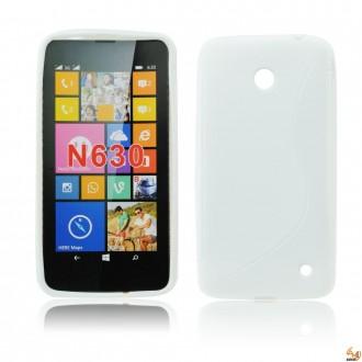 Силиконов калъф за Nokia Lumia 630 бял