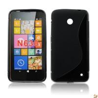 Силиконов калъф за Nokia Lumia 630 черен