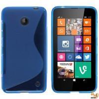 Силиконов калъф за Nokia Lumia 630 син