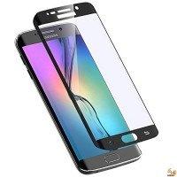 Стъклен протектор за дисплея за Samsung Galaxy S7 Edge извит черен