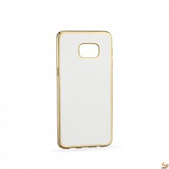 Силиконов калъф за Samsung G928 Galaxy S6 Edge+ с лайсна Gold